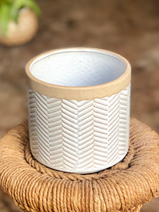 Ramos Banded Chevron Pot 4""