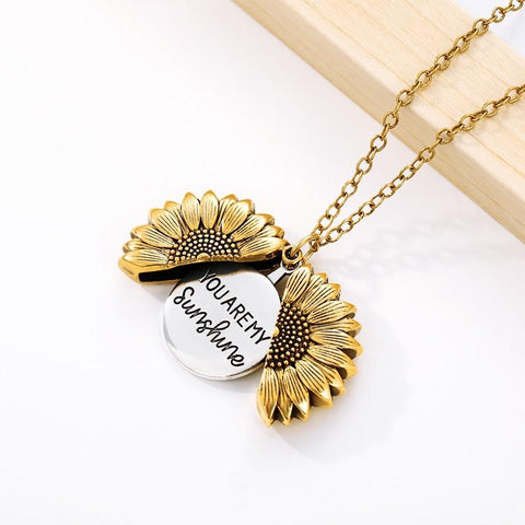 'You Are My Sunshine' Sunflower Pendant Necklace - Summit Creek Shop