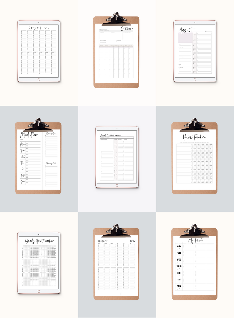 Planner Plus Pack | 9 Planners, Views & Trackers (32 Total Sheets)