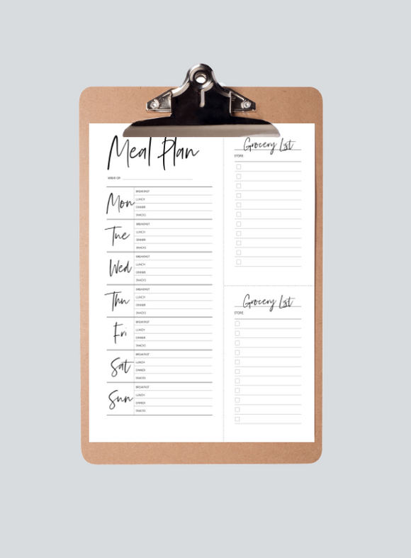 Meal Planner with Trimmable Grocery Lists
