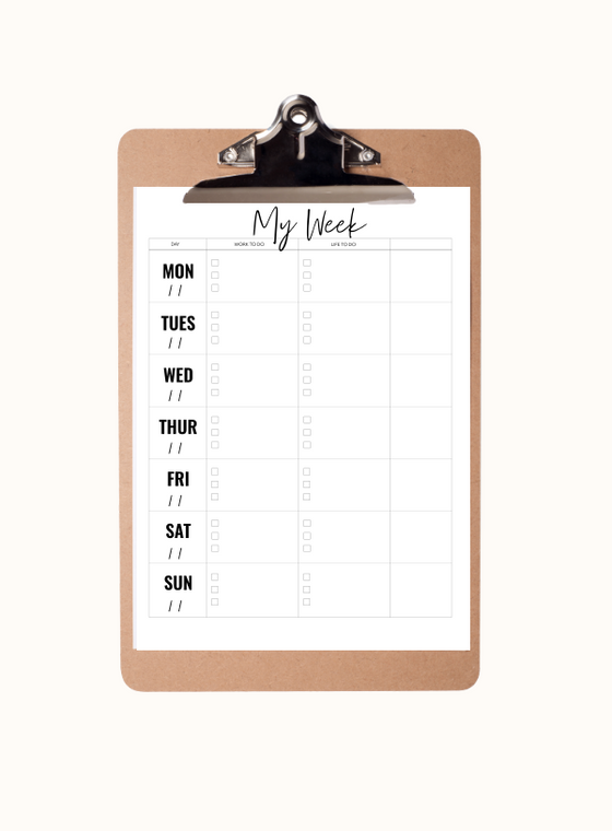 Weekly View Planner