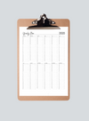 Yearly at a Glance Planner