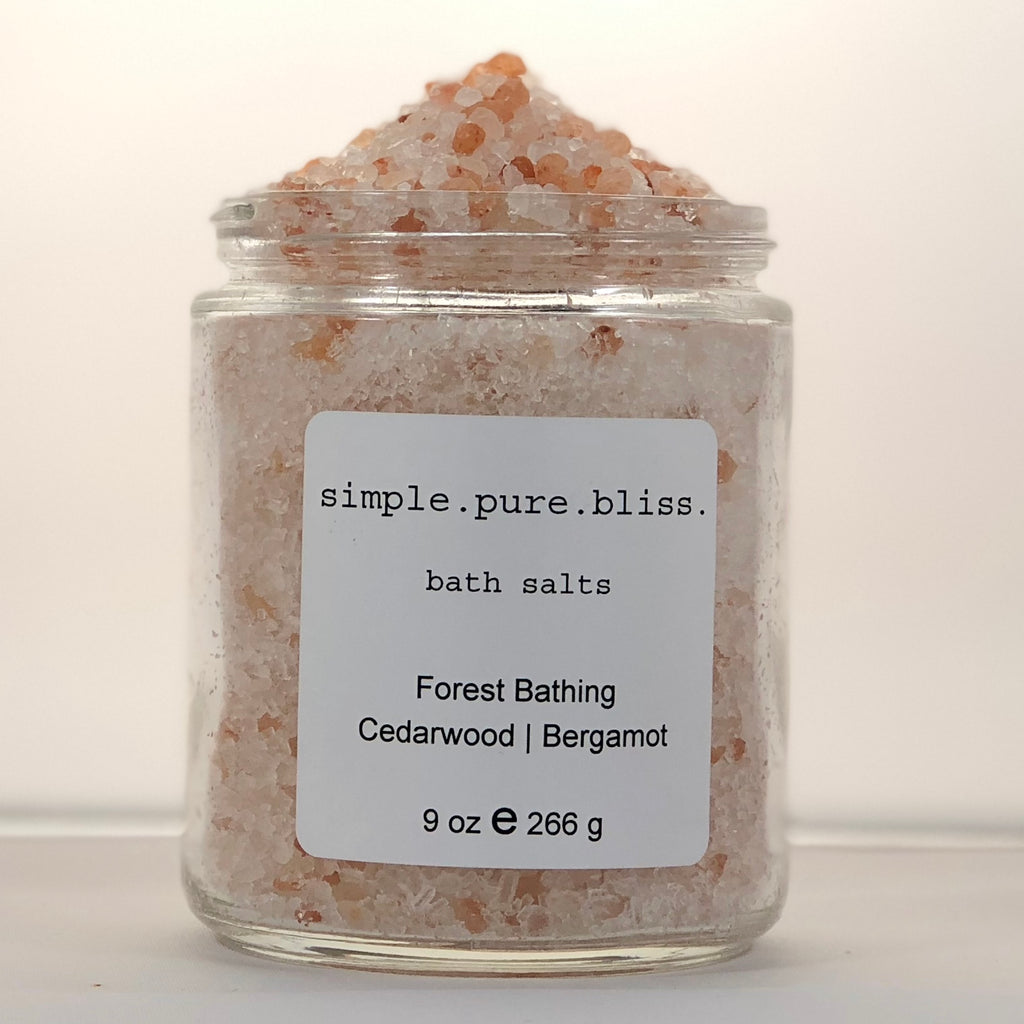 simple. pure. bliss. organic bath salts