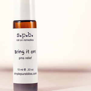 simple. pure. bliss. organic roll on-pms relief