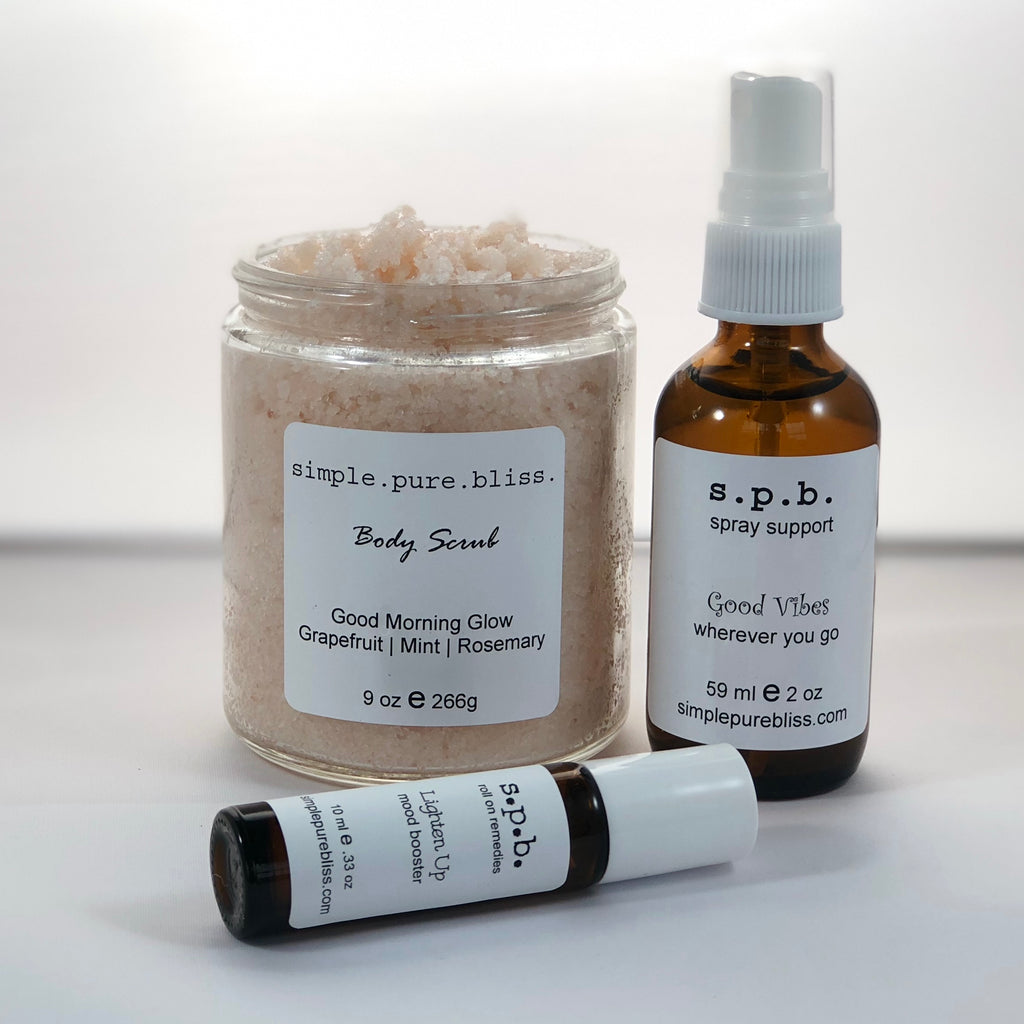 simple. pure. bliss. organic bath and body gift package