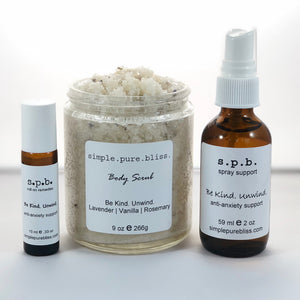 simple. pure. bliss. organic bath and body gift