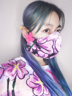 Flowers mask cover