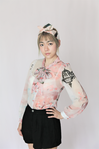 Spring bow blouse
