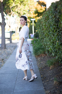 Spring high-low bow skirt