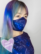 Load image into Gallery viewer, Starry Night mask cover with optional LEDs