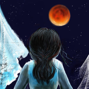 Childhood Lunar Eclipse painting