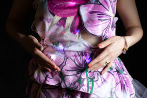 Flowers Heart-Rate Monitoring dress (fabrics and tutorials)