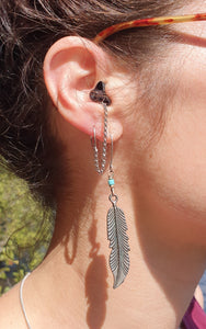 SILVER HEARRINGS: earplug earrings you'll never lose