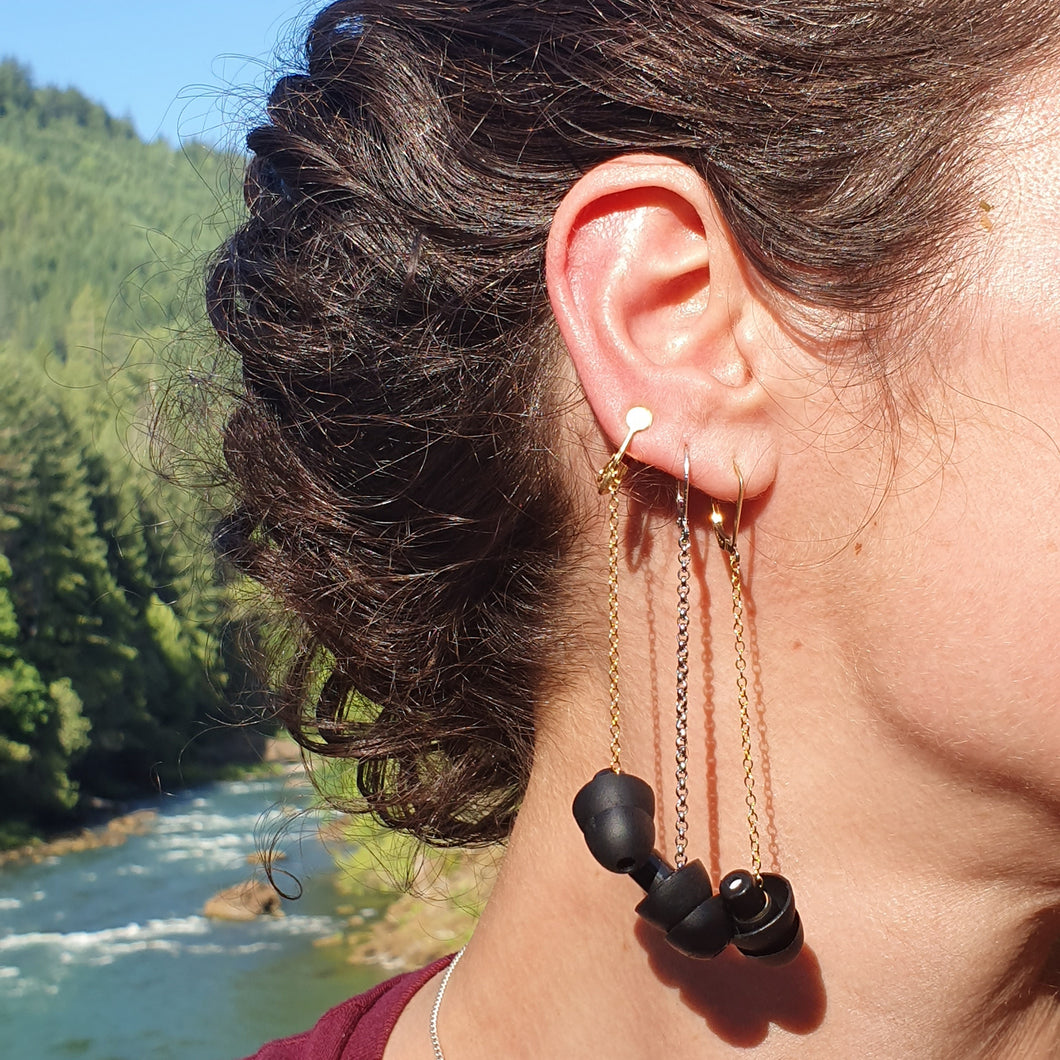 HEARRINGS TRIO: earplug earrings you'll never lose!
