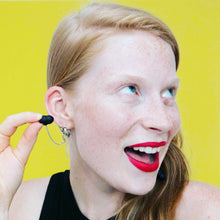 Load image into Gallery viewer, SILVER HEARRINGS: earplug earrings you'll never lose