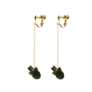 GOLD SCREW-ON HEARRINGS: earplug earrings you'll never lose