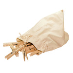 Jumbo Wooden Clothes Pegs, Set of 20 in Cotton Bag