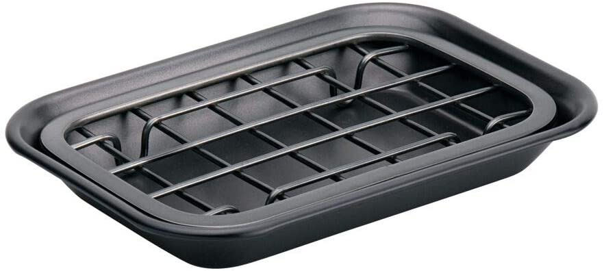 Fully Draining Metal Soap Dish - Matt Black