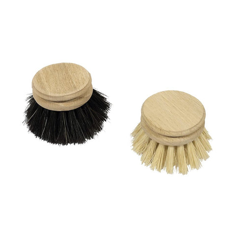 Traditional Dish Brush Replacement Heads, set of 2