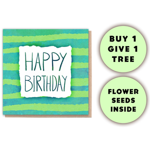 Birthday Stripes Card