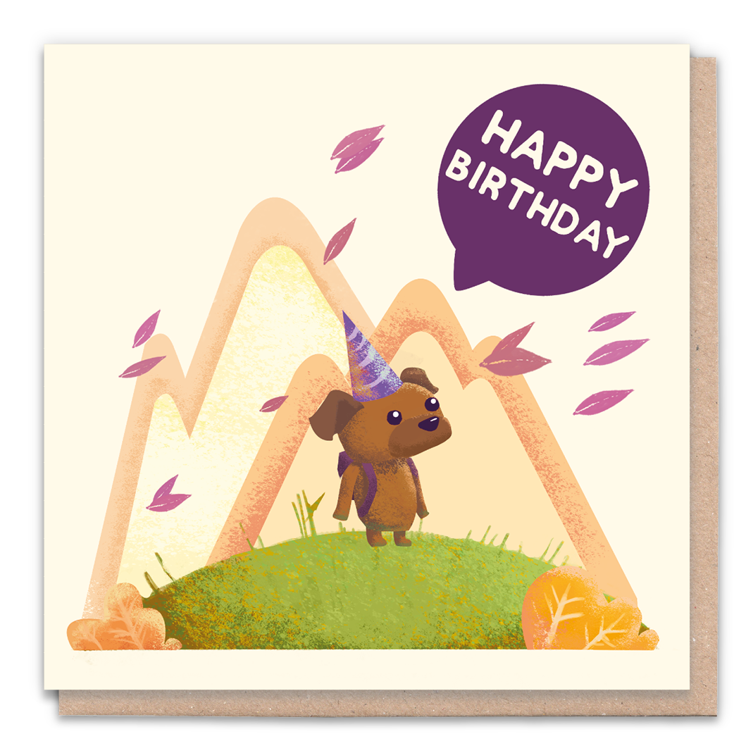 Happy Birthday Dog Card