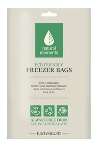 Eco-Friendly Food & Freezer Bags - 30pk