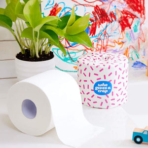 100% Recycled Plastic Free Double Length Toilet Roll ~ 3 Pack