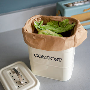 25 Compostable Food Waste Paper Bags