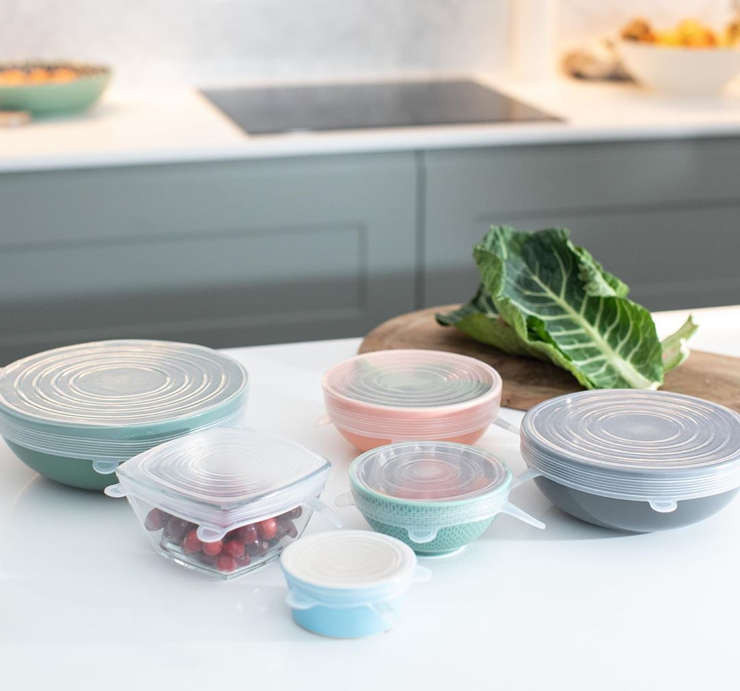 Reusable Silicone Stretch Lids – Set of 6