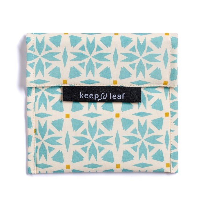 Reusable Snack & Sandwich Bag - Teal Geo