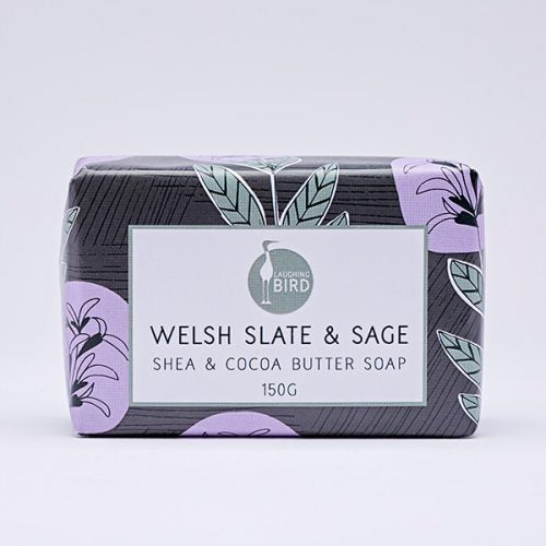 Welsh Slate & Sage Soap with Shea and Cocoa Butter 150g