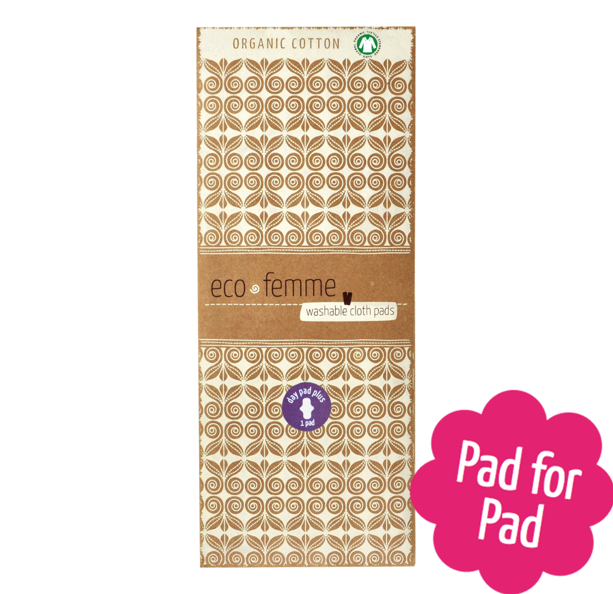 Reusable Natural Organic Day Pad Plus