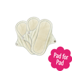 3 Reusable Natural Organic Panty Liners