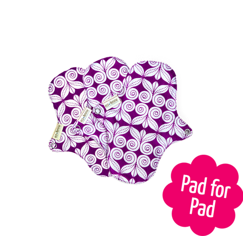 3 Reusable Natural Organic Panty Liners Without PUL