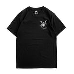 Premium quality tee shirt in black by New Zealand skate and streetwear clothing label VIC Apparel. Screen printed logo design.