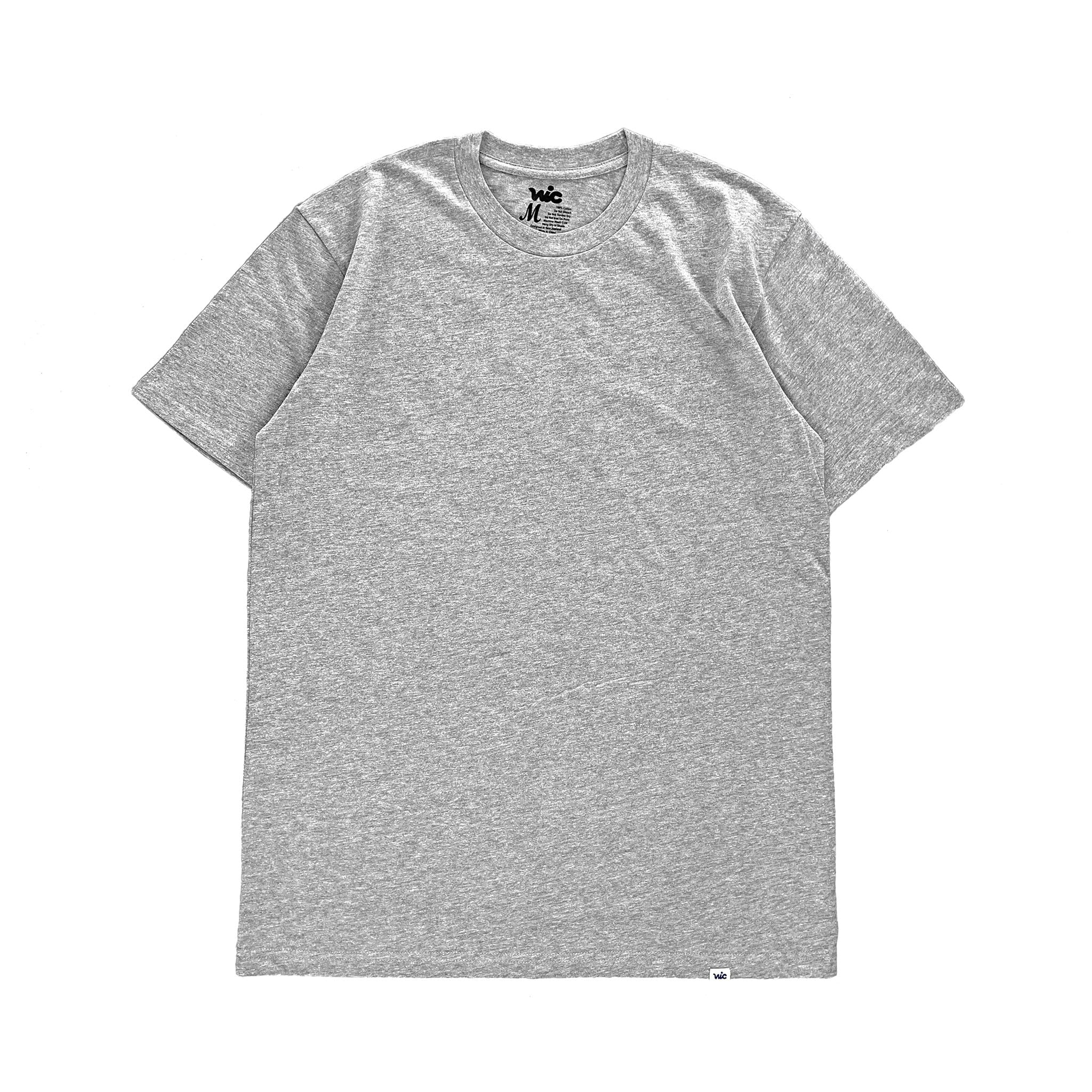 Premium quality long sleeve blank pocket tee shirt in heather grey by New Zealand skate and streetwear clothing label VIC Apparel. A clean, heavyweight & price point staple.