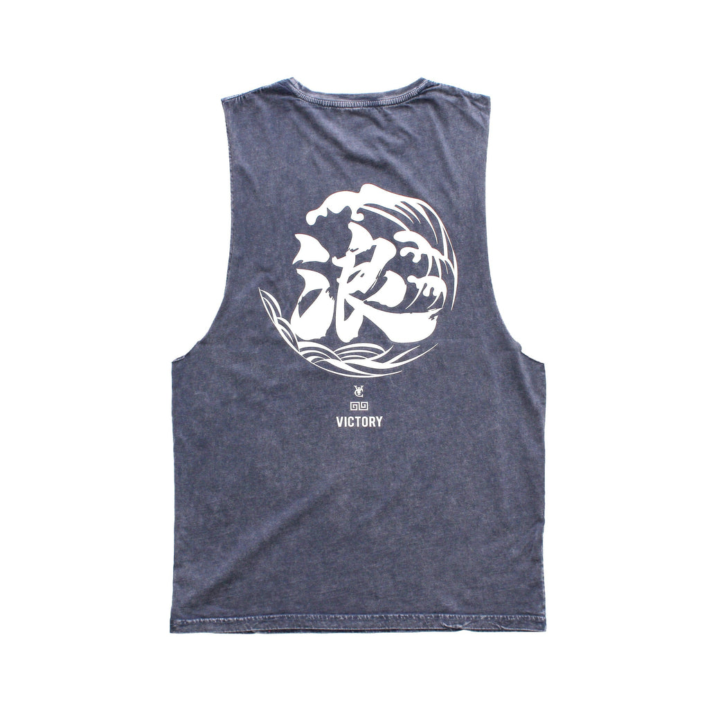 WAVE MUSCLE TANK - BLUE STONE