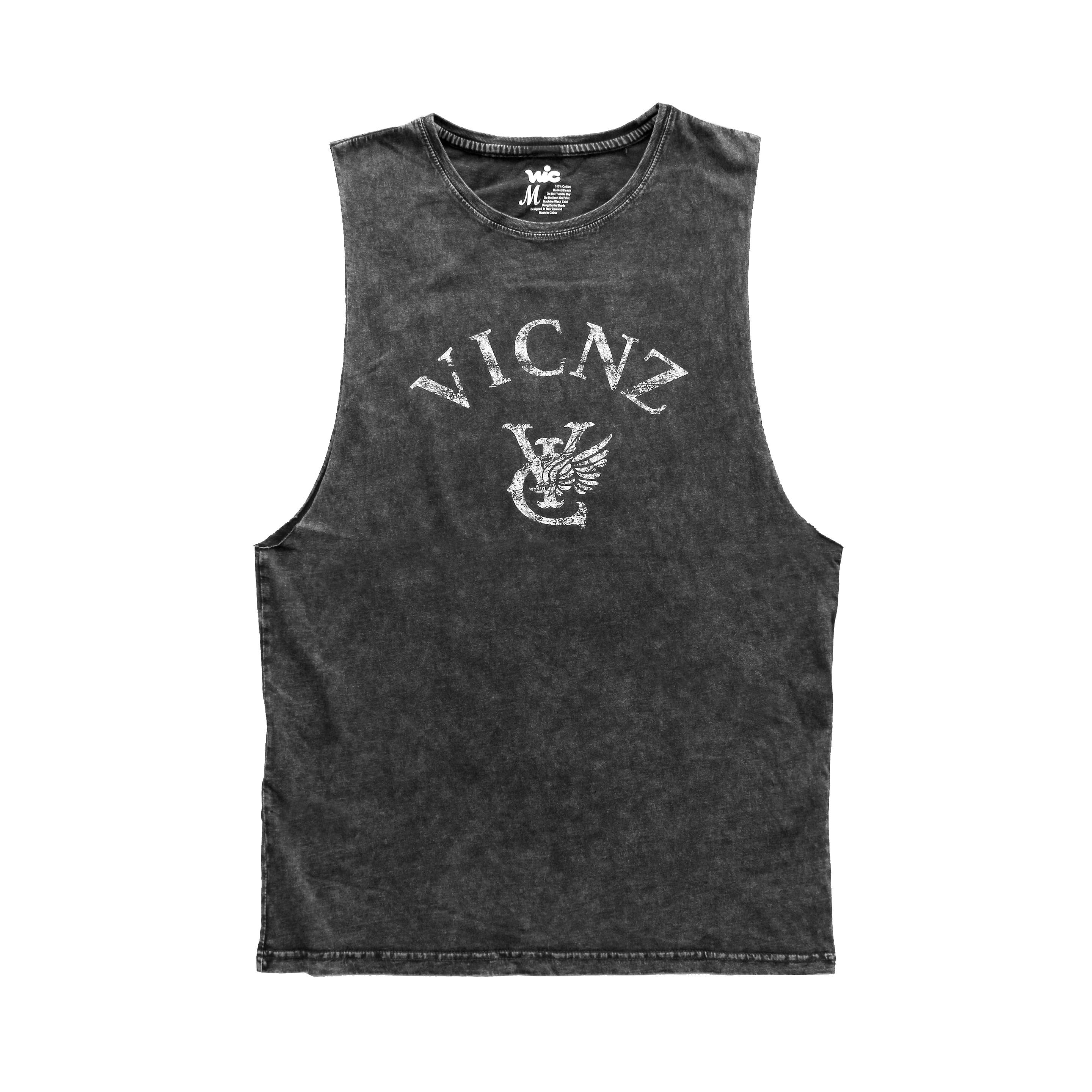 SPRAY MUSCLE TANK - BLACK
