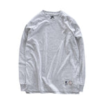 Premium quality long sleeve blank tee shirt in ash grey by New Zealand skate and streetwear clothing label VIC Apparel. A clean, heavyweight & price point staple.