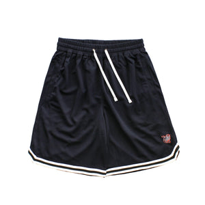 Retro style basketball shorts by New Zealand skate and streetwear clothing label VIC Apparel. American vintage classic sportswear. Full athletic  fit. Minimal simple design.