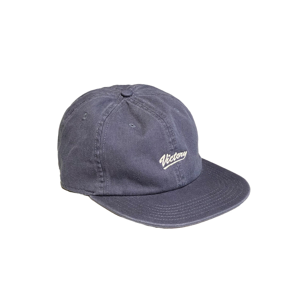 Premium quality unstructured 6-panel polo hat by New Zealand skate and streetwear clothing label VIC Apparel. Embroidered logo, dad hat style. One size fits all.