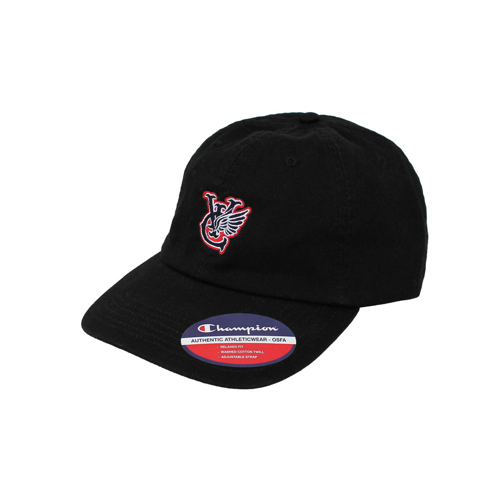 COLOUR WING CHAMPION® TWILL CAP - BLACK
