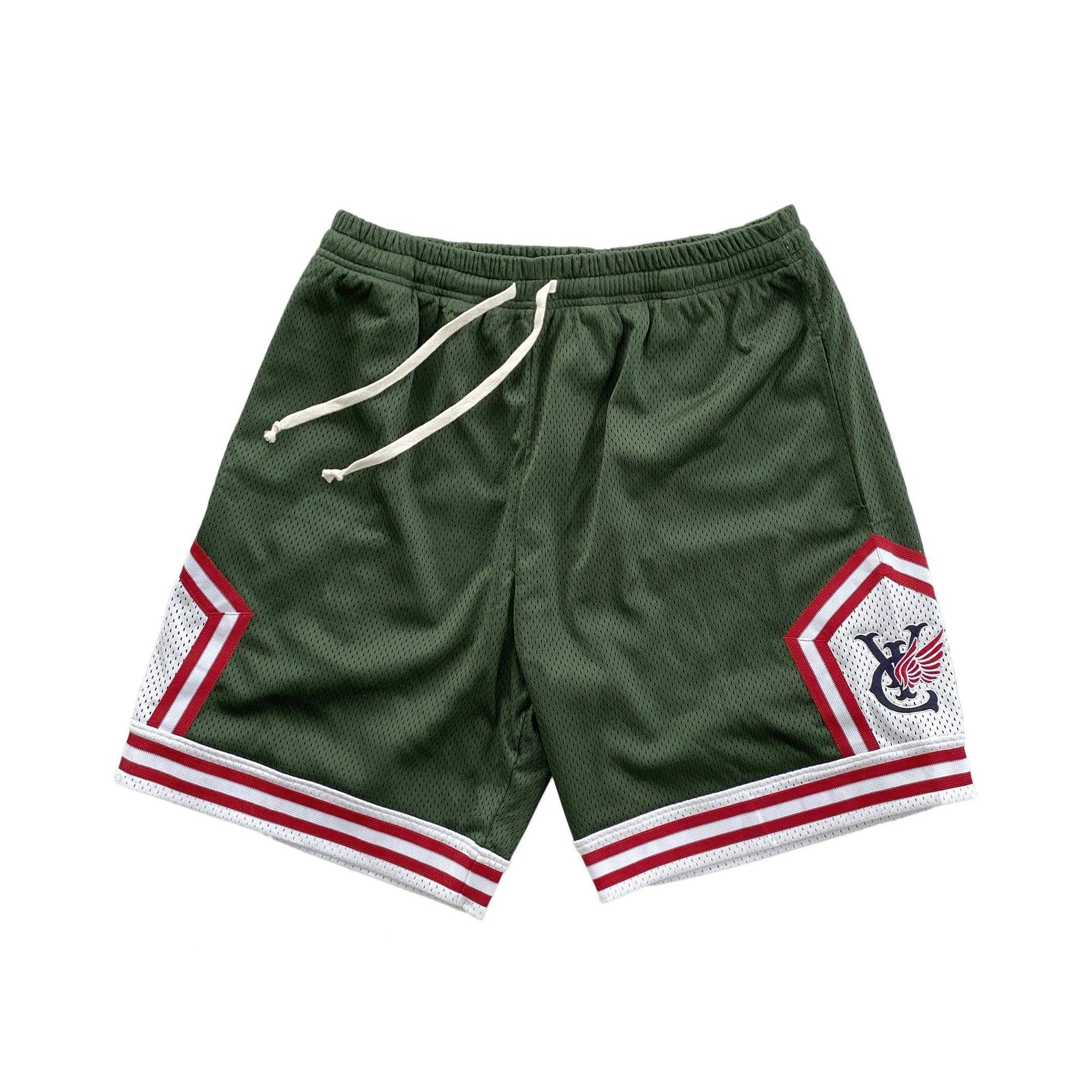 Retro style basketball shorts by New Zealand skate and streetwear clothing label VIC Apparel. American vintage classic sportswear. Full athletic fit.