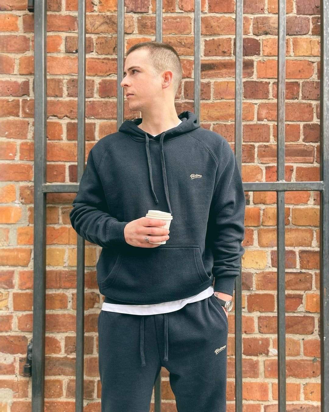 Premium quality sweatshirt hoodie and sweat pants by New Zealand skate and streetwear clothing label VIC Apparel. Classic minimal design.