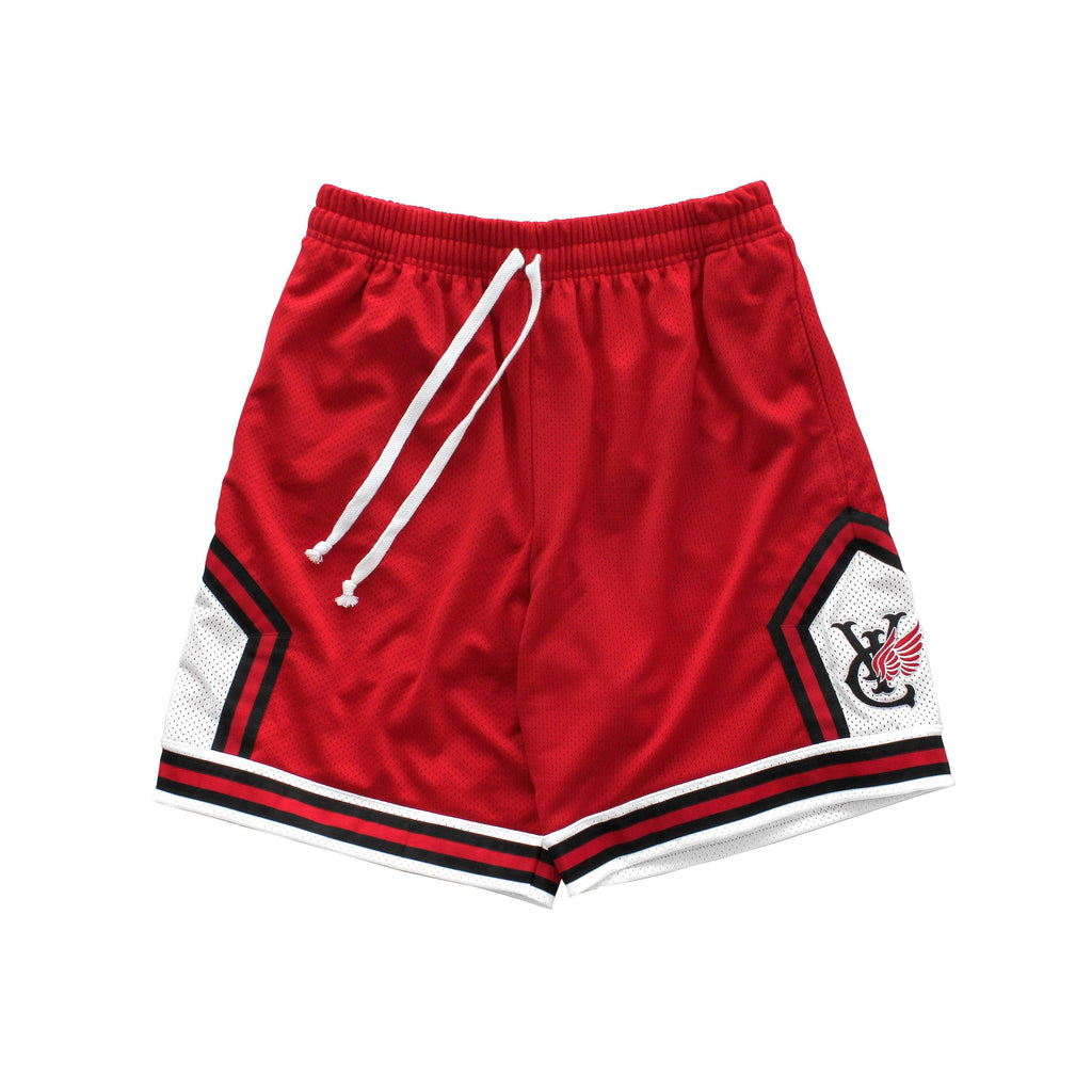 Retro style basketball shorts by New Zealand skate and streetwear clothing label VIC Apparel. American vintage classic sportswear. Full athletic fit. Made in the USA.