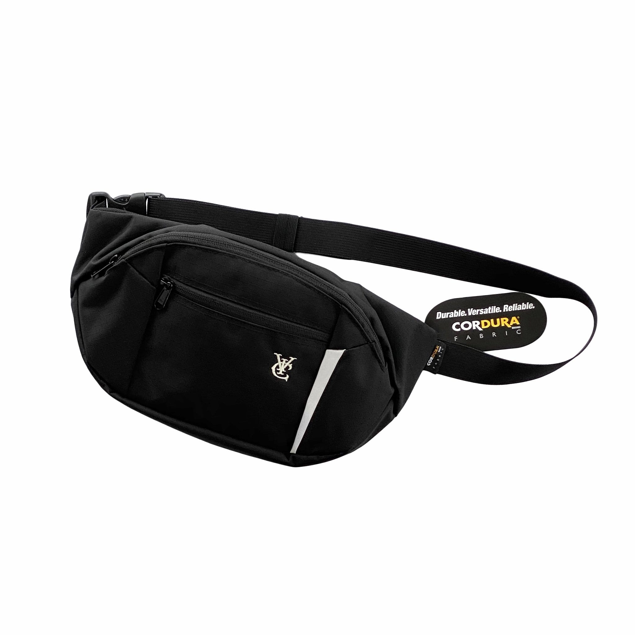 CORDURA® Nylon ripstop fabric / 35 x 17 x 5.5 cm, 3 litres / Reflective detailing / Air mesh padded back panel / Large front compartment with YKK zip closure / 2 main pockets with YKK zippered closure / Internal mesh constructed pocket with zip closure / Embroidery logo