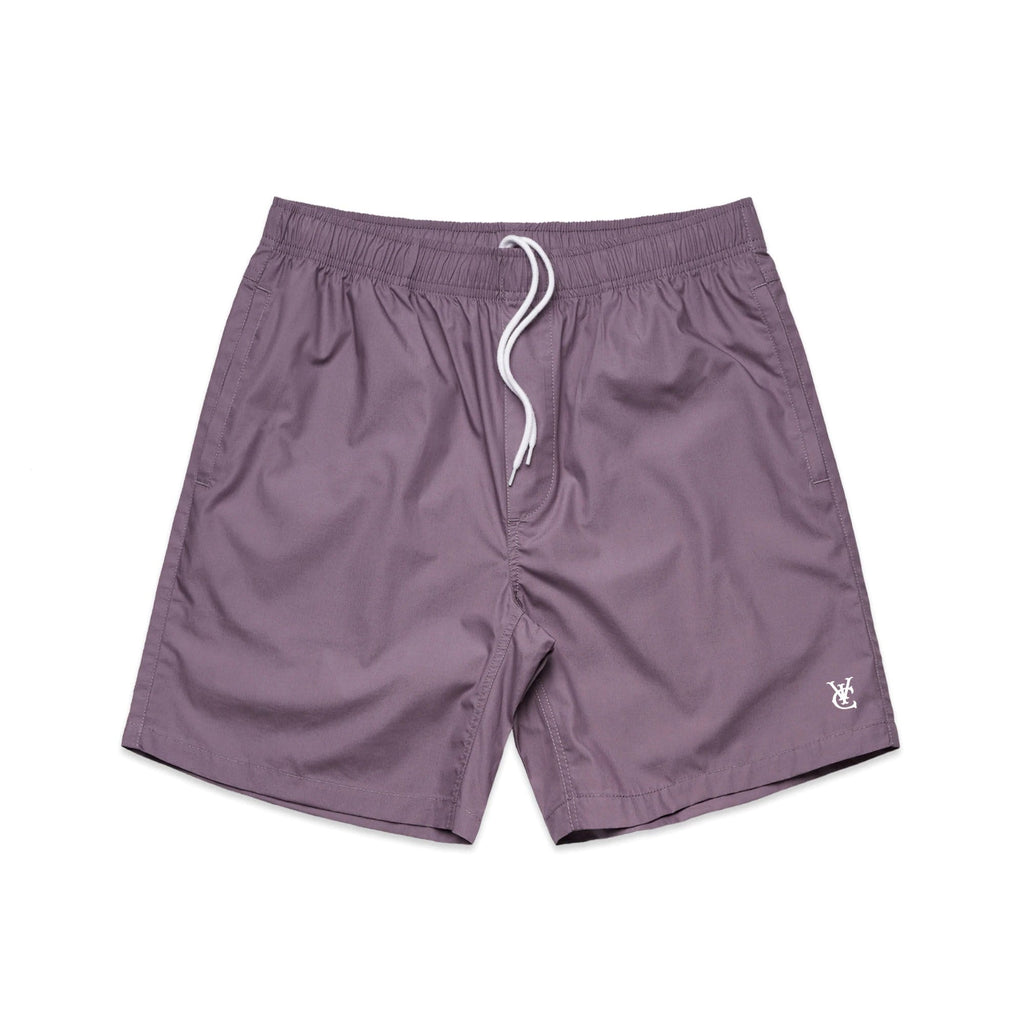 New Zealand skate and streetwear clothing label VIC Apparel's Feather Beach Shorts is the perfect short for every summer adventure. Regular fit, Drawstring waist, Slit pockets at side, Embroidered logo at left thigh.