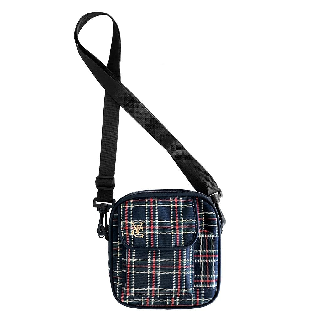 VIC SIDE BAG - BLACK / RED PLAID