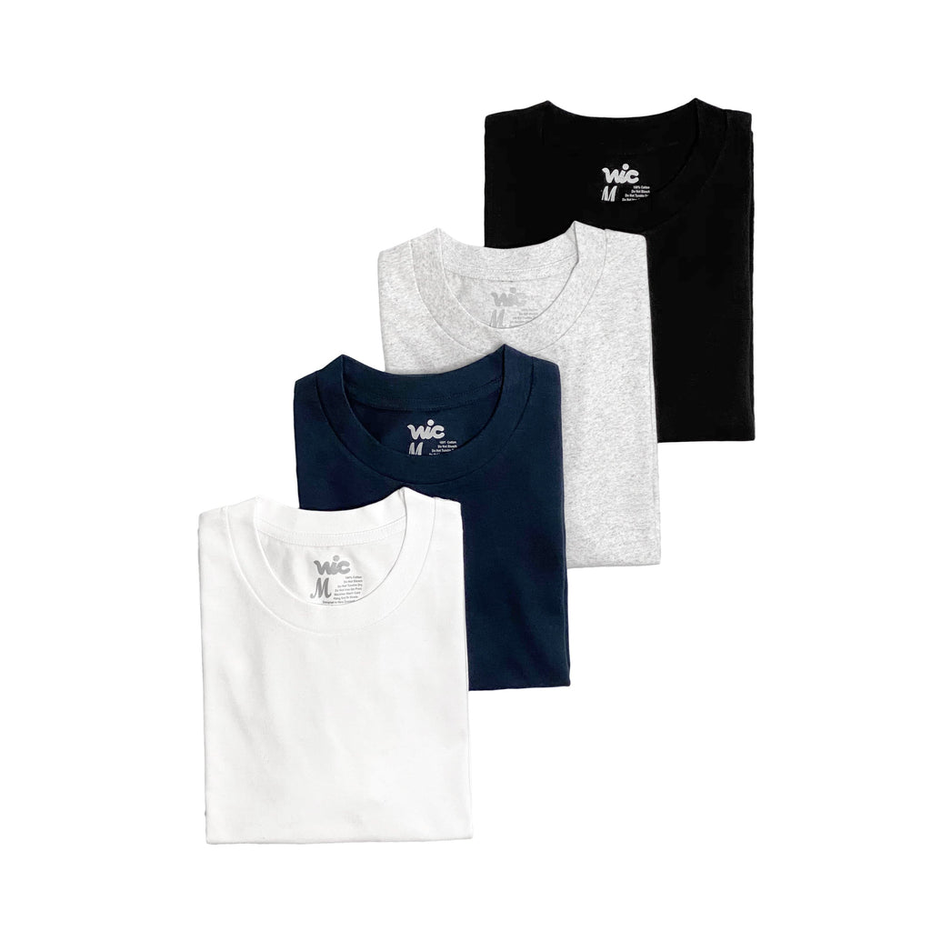 Premium quality plain tee shirt by New Zealand skate and streetwear clothing label VIC Apparel. A clean & heavyweight staple. Pack of 4.