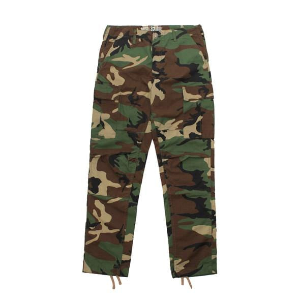 Premium quality ripstop cargo pants in camo by New Zealand skate and streetwear clothing label VIC Apparel. American classic vintage military workwear style.